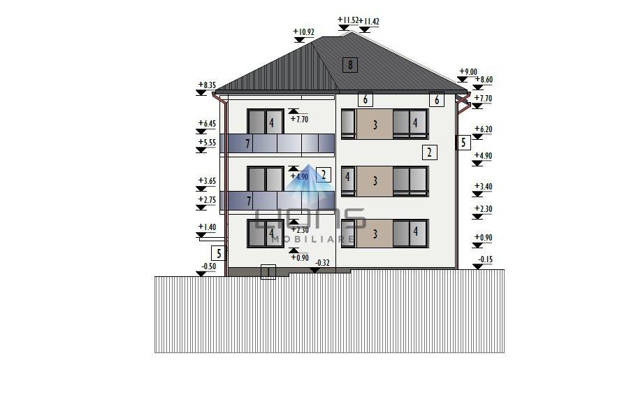 Apartament 3 camere cu gradina de 50 mp de vanzare in Buna Ziua
